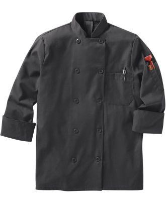 Chef Designs Women's L/S Oilblok Mimix 10-Button Chef Coat