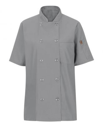 Chef Designs Women's S/S Oilblok Mimix 10-Button Chef Coat