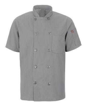 Chef Designs Men's S/S Oilblok Mimix 10-Button Chef Coat