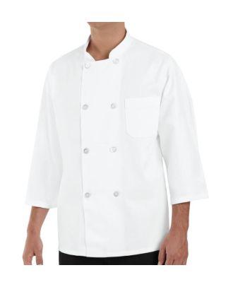Chef Designs Men's 3/4 Sleeve Chef Coat