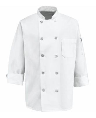 Chef Designs Men's L/S Poly Classic Chef Coat