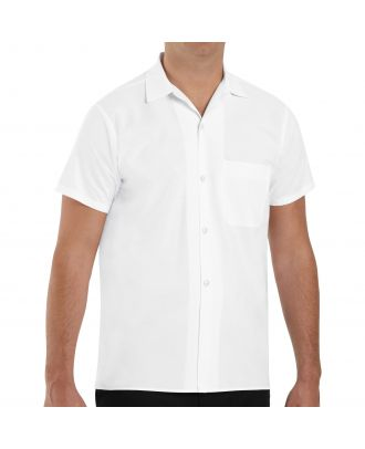 Chef Designs Men's S/S Button-Front Cook Shirt