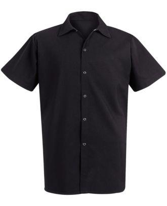 Chef Designs Men's S/S Spun-Poly Snap-front Cook Shirt