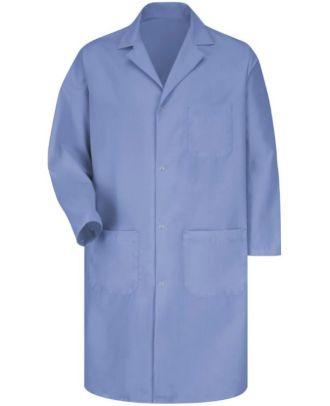 Redkap Men's Gripper-Front Medical Lab Coat