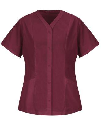 Redkap Women's S/S Easy-Wear Tunic Smock Housekeeping Coat
