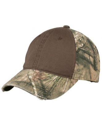 Port Authority Camo with Contrast Front Panel Unstructured Cap
