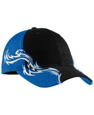 Port Authority ColorBlock Flame Structured Cap