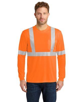 CornerStone Men's L/S ANSI-Complaint Safety Hi-Visibility T-Shirt
