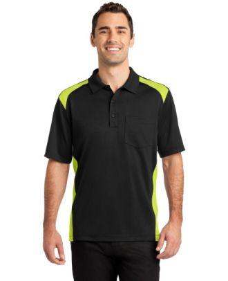 CornerStone Men's S/S Snag-Proof Colorblock Pocket Work Golf Shirt