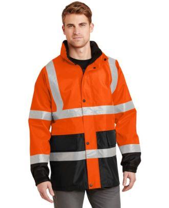 CornerStone Men's ANSI Class-3 Waterproof Parka Hi-Visibility Jacket