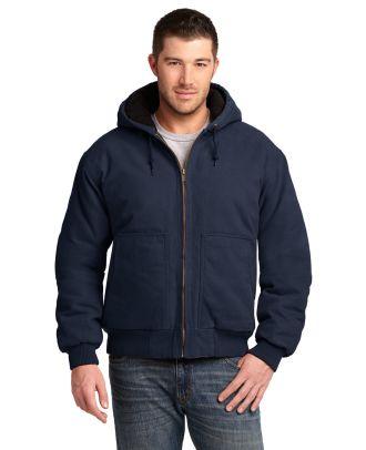 CornerStone Men's Washed-Duck Hooded Work Jacket