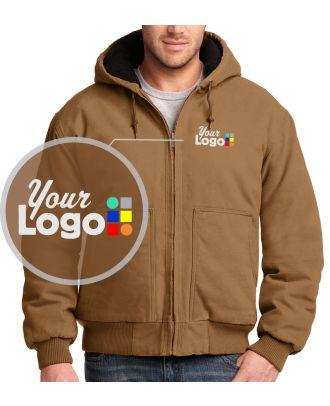 WF Men's Washed-Duck Industrial Custom-Logo Jacket