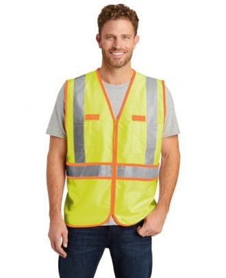 CornerStone Men's ANSI Class 2 Dual-Color Safety Hi-Visibility Vest