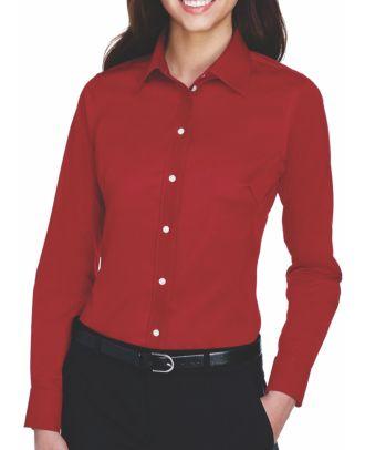 Devon & Jones Women's L/S Crown Stretch Twill Shirt