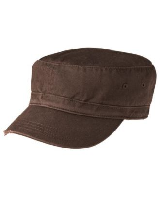 District Distressed Military Unstructured Cap