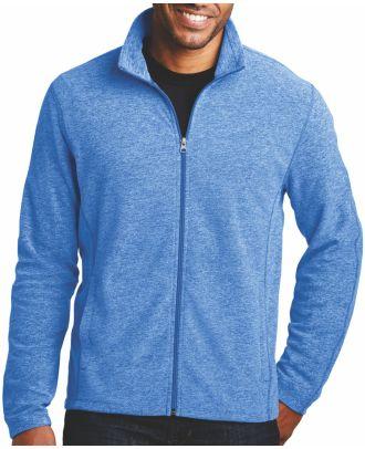 Port Authority Men's Heather Microfleece Fleece Jacket