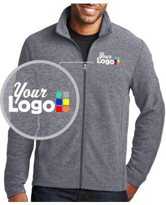 WF Men's Heather Microfleece Custom-Logo Jacket