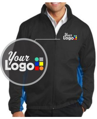 WF Men's Core ColorBlock Custom-Logo Jacket