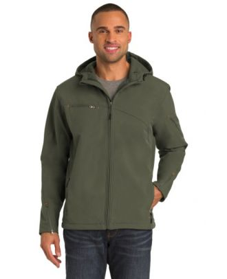 Port Authority Men's Textured Soft Shell Hooded Jacket