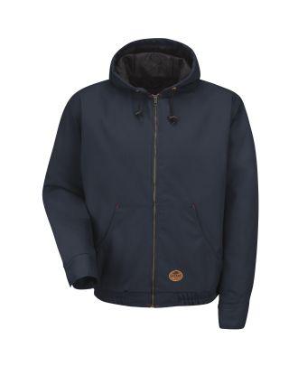 Redkap Men's Blended Duck Hooded Work Jacket