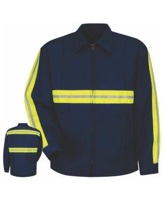 Redkap Men's Perma-Lined Panel Hi-Visibility Jacket