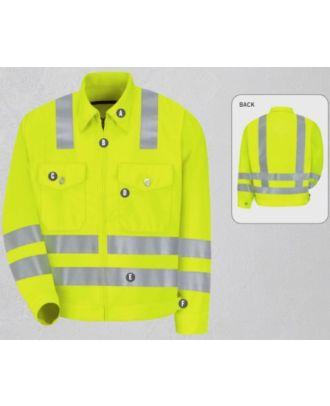 Redkap Men's Ike-Class 3 Level 2 Hi-Visibility Jacket