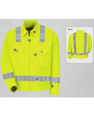 Redkap Men's Ike-Class 2 Level 2 Hi-Visibility Jacket