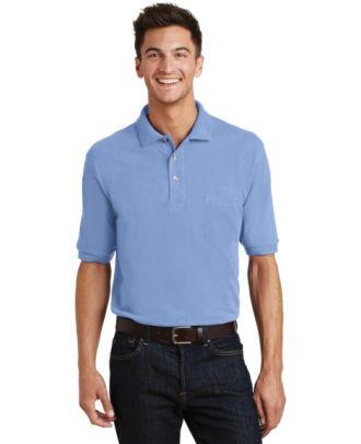 Port Authority Men's S/S Pique Knit Pocket Golf Shirt