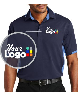 WF Men's S/S ColorBlock Ottoman Custom-Logo Golf Shirt