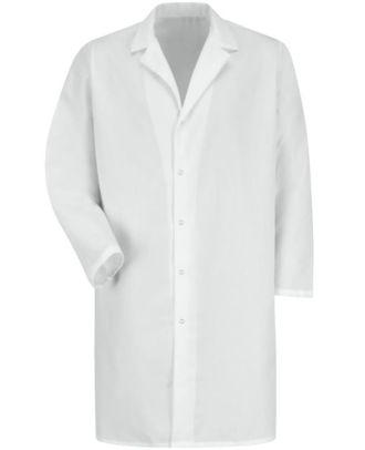 Redkap Men's Pocketless Gripper-Front Medical Lab Coat