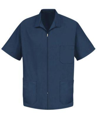 Redkap Men's Zip-Front Smock Housekeeping Coat