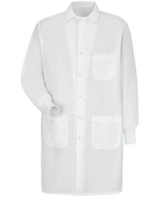 Redkap Unisex Cuffed-Sleeves Interior-Chest Pocket Medical Lab Coat