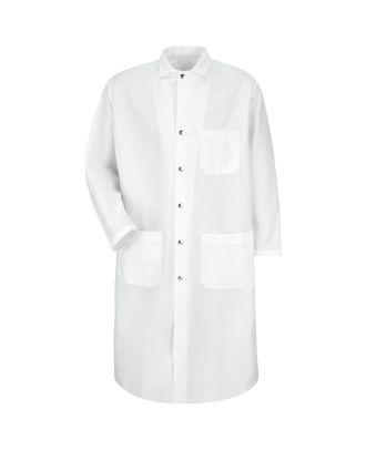 Redkap Men's Full-Cut Snap-Front Poly Butcher Coat