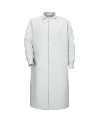 Redkap Men's Gripper-Front Spun-Poly Butcher Coat