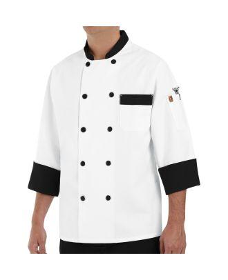 Chef Designs Men's L/S Garnish Chef Coat