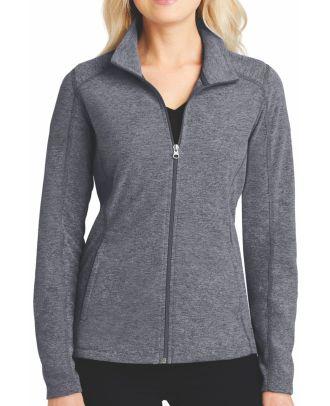 Port Authority Women's Heather Microfleece Fleece Jacket
