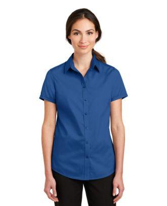 Port Authority Women's S/S SuperPro Twill Shirt