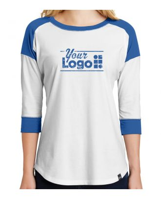 WF Women's 3/4 Sleeve Heritage Raglan Custom-Logo T-Shirt
