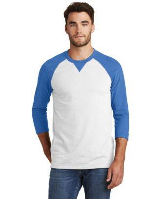 New Era Men's 3/4 Sleeve Sueded Raglan T-Shirt