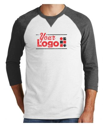 WF Men's 3/4 Sleeve Sueded Raglan Custom-Logo T-Shirt