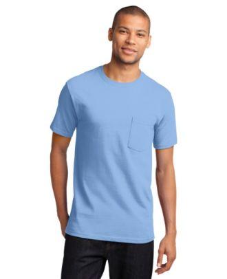 Port & Company Men's S/S Cotton Pocket T-Shirt