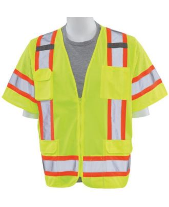 ERB Men's Zip-Front Class-3 Surveyor Hi-Visibility Vest