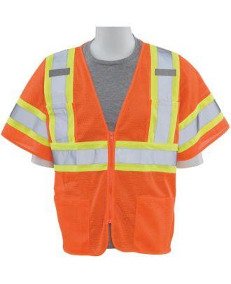 ERB Men's Zip-Front Class-3 Value Surveyor Hi-Visibility Vest