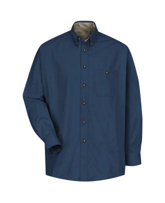 Redkap Men's L/S Cotton Contrast Dress Shirt