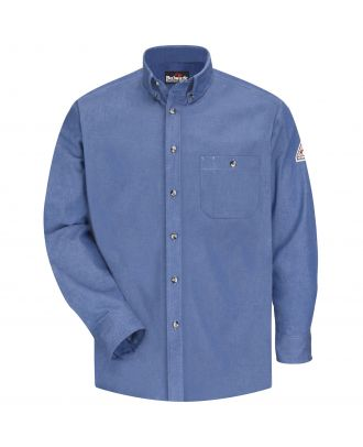 Bulwark Men's L/S Denim Dress Excel Flame Resistant Shirt