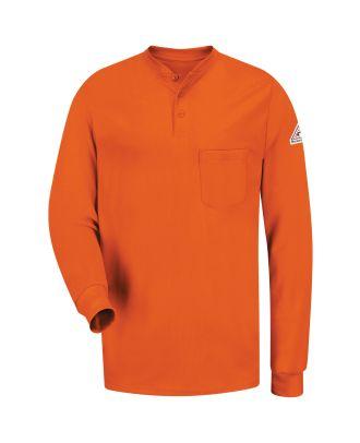 Bulwark Men's L/S Tagless Henley Excel Flame Resistant T-Shirt