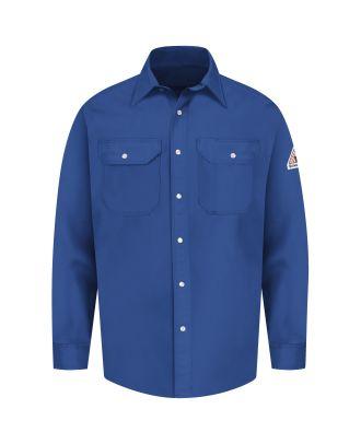 Bulwark Men's L/S Snap Front Uniform Excel Flame Resistant Shirt