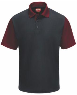 RedKap Men's S/S ColorBlock Automotive Golf Shirt
