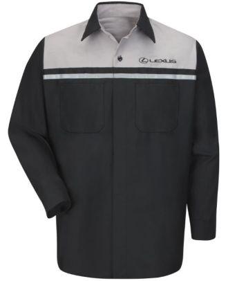 Redkap Men's L/S Technician Lexus Automotive Shirt