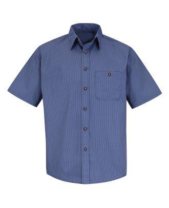 Redkap Men's S/S Mini-Plaid Shirt